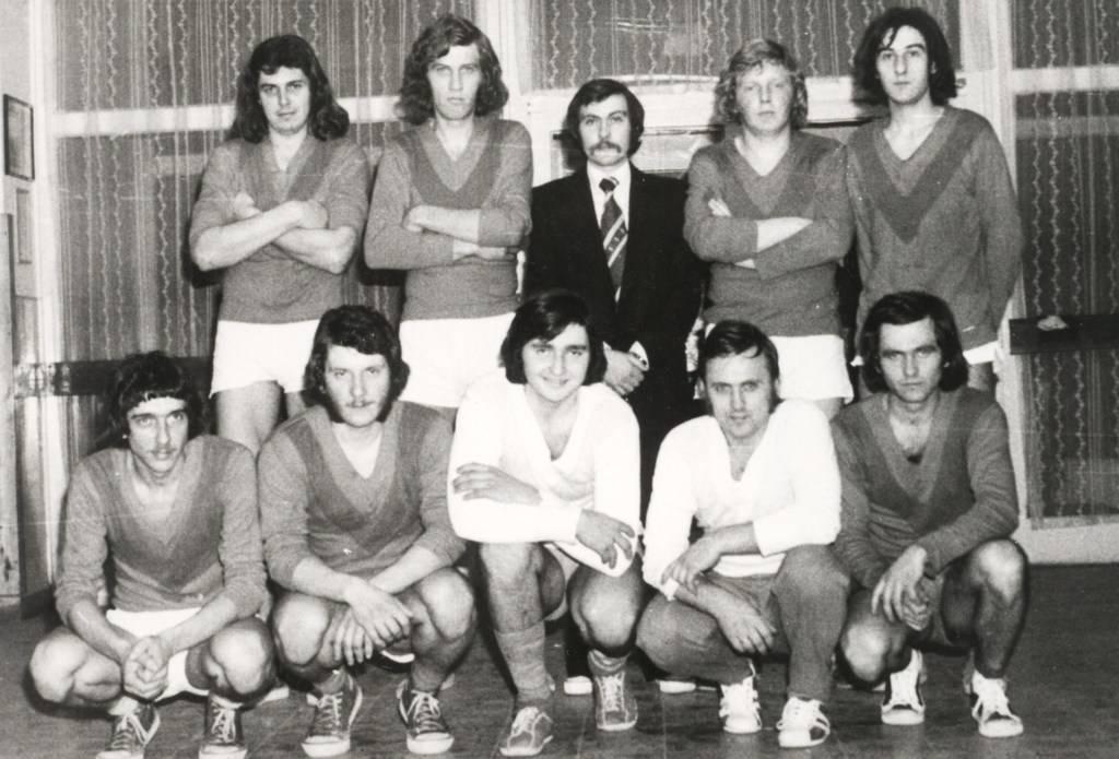 KSK. csapata az 1977. évi teremkupán